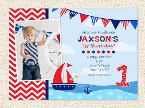 Nautical Birthday Invitation by LollipopPrints on Etsy, $10.00