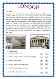 English worksheets: This is London worksheets, page 18