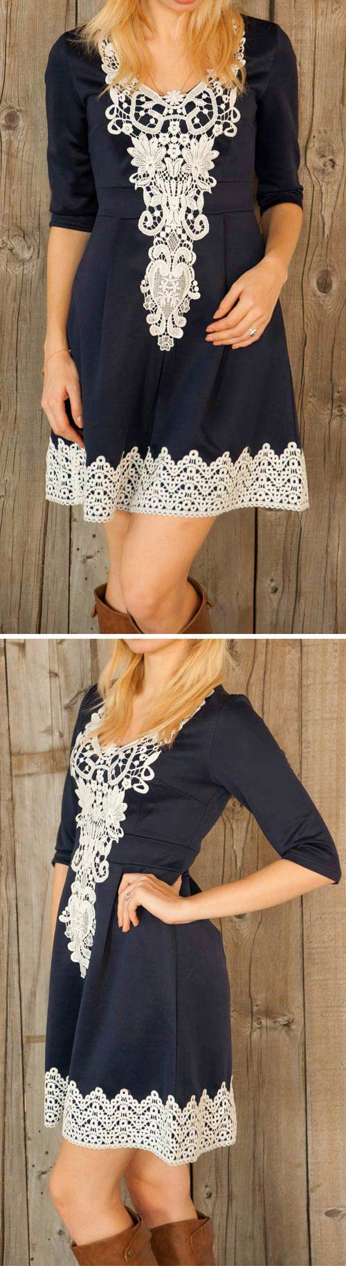 Today everything can be yours. Can you imagine the feeling with the graceful lace dress? ONLY $23.99 now! You'll MEET more at CUPSHE.COM !