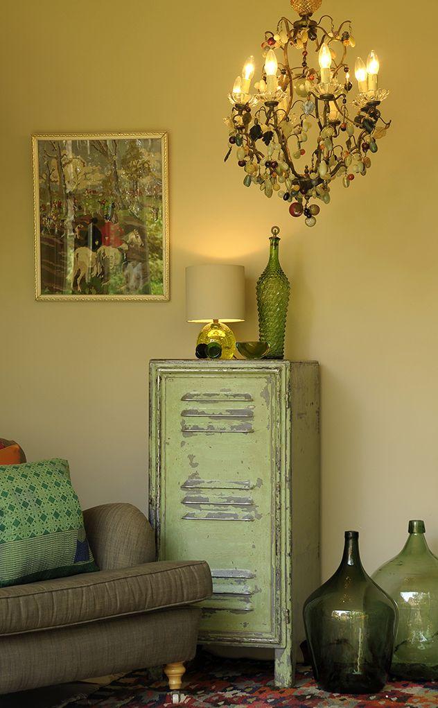 vintage filing cabinet.