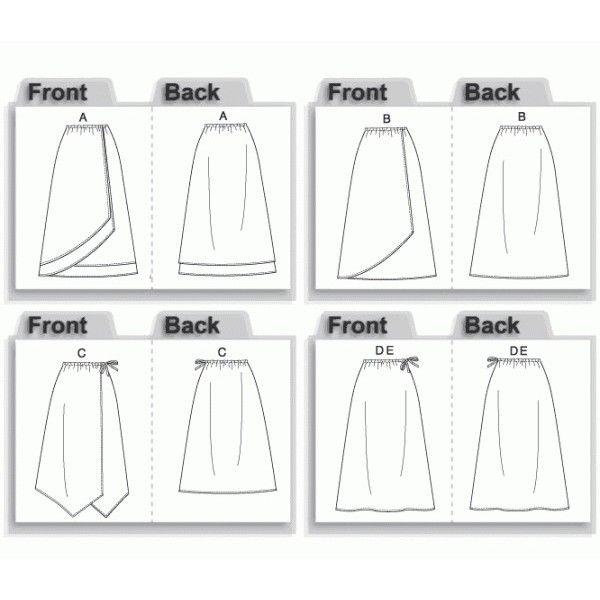 Patron couture gratuit jupe portefeuille - Patron couture jupe gratuit ...