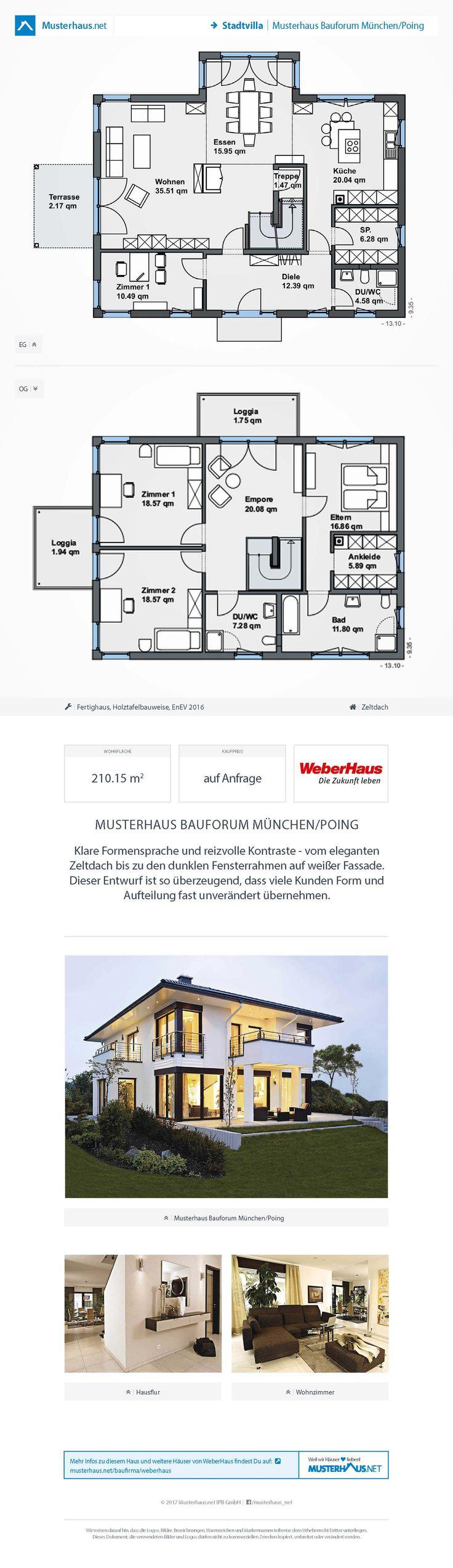 Stadtvilla Mit Zeltdach U2022 Musterhaus Bauforum München/Poing U2022 Weber Haus U2022  Jetzt Bei