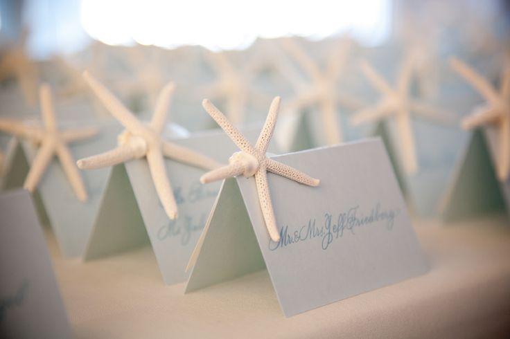 Calligraphy escort cards for an ocean wedding deborahnadeldesign.blogspot.com