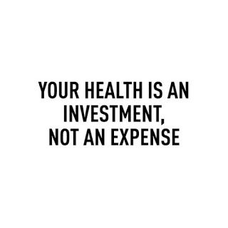 i will forever say this! depriving your health or saying money is better spent on other things is STUPID. you have no health, you die. simple.
