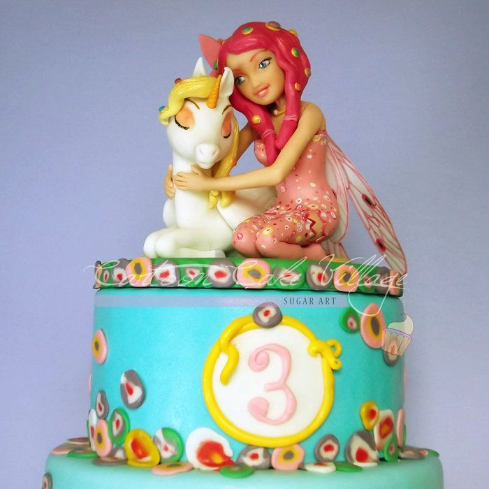 Mia & Me - by CartoonCakeVillage @ CakesDecor.com - cake decorating website