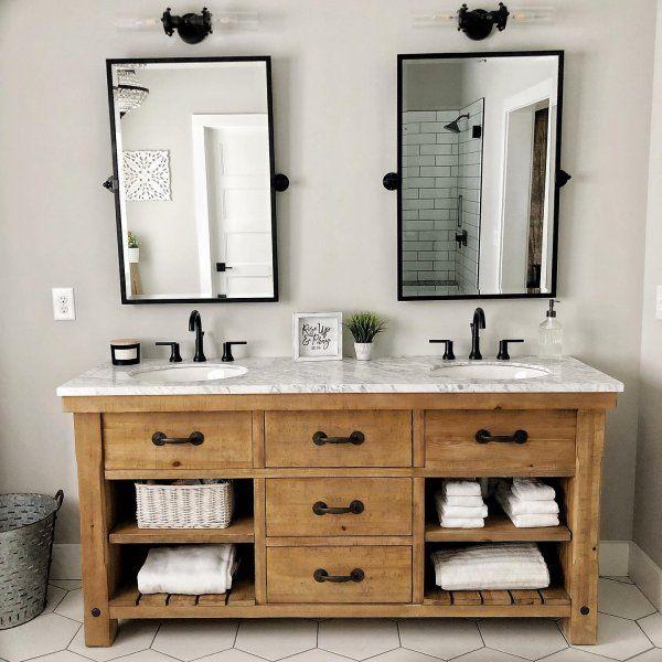 Benchwright 72 Double Sink Vanity In 2020 Double Vanity Bathroom Bathroom Style Farmhouse Bathroom Vanity