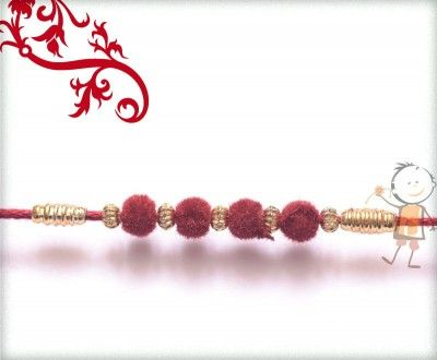 Online #Rakhi #Shopping 2015:- Buy Rakhi, Velvet Rakhi Delivery In #India #USA #UK #Australia #Canada #Dubai #Singapore #NZ Beautiful Maroon Velvet Rakhi, surprise your loved ones with roli chawal, chocolates and a greeting card as it is also a part of our package and that too without any extra charges.  http://www.bablarakhi.com/send-designer-rakhi-online/1128-send-beautiful-maroon-velvet-rakhi-online.html