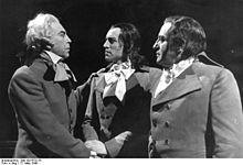 "1947 ♦  Dantons Tod (Gottfried von Einem). Einem's opera is a compressed setting of Georg Büchner's play about the ""Reign of Terror"" during the French Revolution."