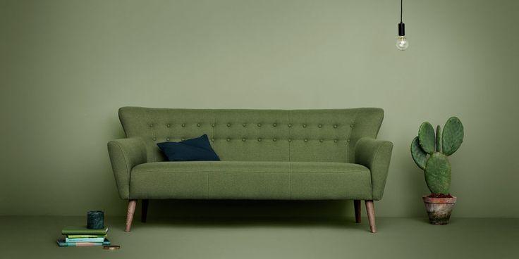 Byd naturen indenfor  ...med smukke Ellen. http://dk.sofacompany.com/ellen-3-seater-sofa-liby-sage-green