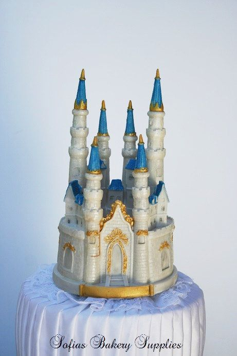 fairy castle wedding cake topper tale castle cake topper diy large by 14093