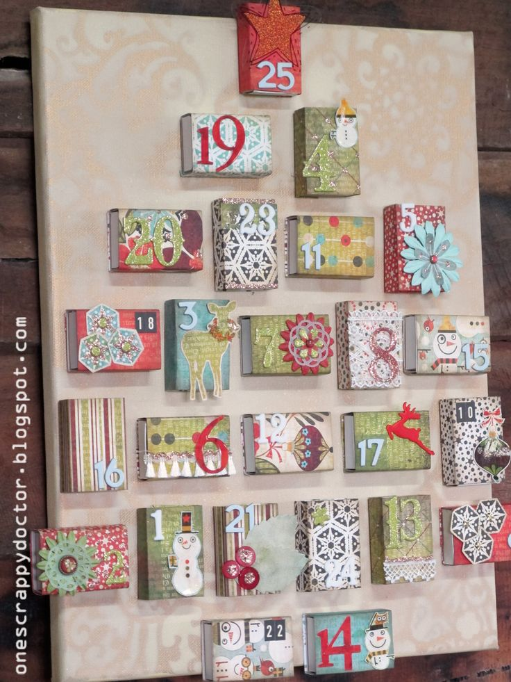 Each Package is a Piece of Art!—The creativity is fantastic!—Love this wrapped matchbox look for an advent calendar.