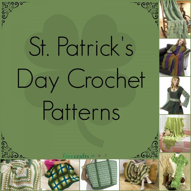 18 St. Patrick's Day Crochet Patterns--plus a few bonus patterns for rainbow lovers!