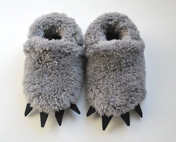 Baby Wolf  Slippers  Toddler by babycricket on Etsy, $35.00