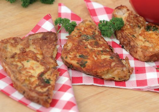 This Savoury French Toast is great for breakfast or in the lunchbox!