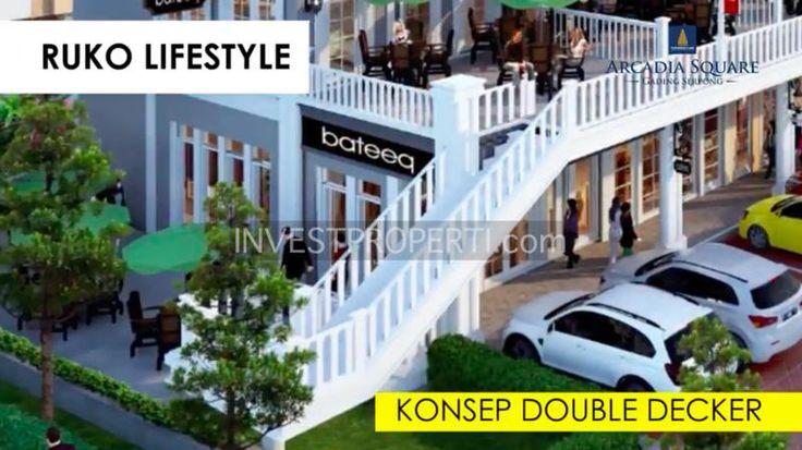 Ruko lifestyle konsep Double Decker Arcadia Serpong