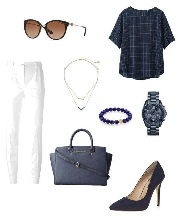 """""""Spring outfit ☀️"""" by dededeea1998 on Polyvore featuring Uniqlo, Dolce&Gabbana, Dorothy Perkins, Michael Kors and Sydney Evan"""