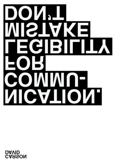 type-lover: David carson - communication Tagged: Typography poster david carson communication