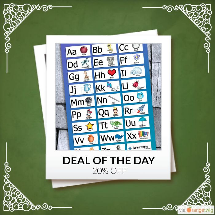 Today Only! 20% OFF this item.  Follow us on Pinterest to be the first to see our exciting Daily Deals. Today's Product: Sale -  Alphabet Chart Poster Print Buy now: https://small.bz/AAg74Ry #etsy #etsyseller #etsyshop #etsylove #etsyfinds #etsygifts #musthave #loveit #instacool #shop #shopping #onlineshopping #instashop #instagood #instafollow #photooftheday #picoftheday #love #OTstores #smallbiz #sale #dailydeal #dealoftheday #todayonly #instadaily #instasale
