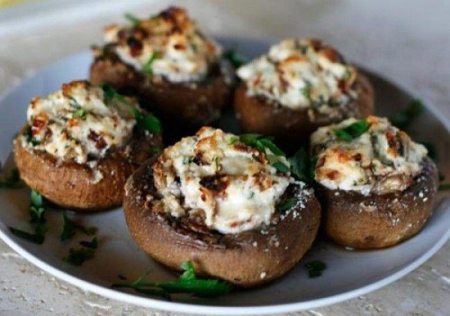 Andouille Sausage Stuffed Mushroom Caps