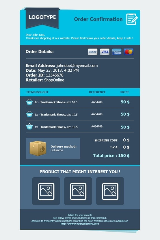 12 best images about Order confirmation Inspiration – Confirmation Email Template