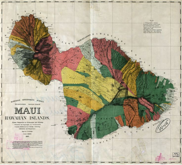 Map of Maui Hawaii 1885 121 best