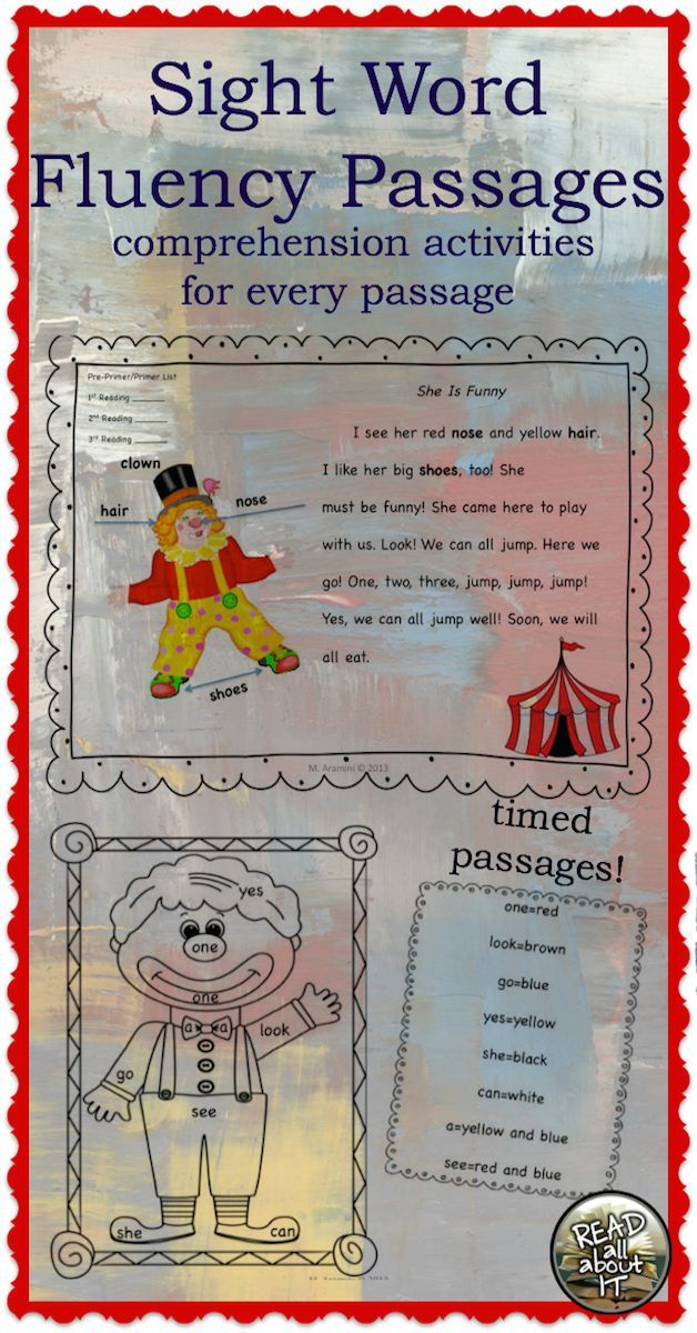 Increase your students' sight word recognition and reading fluency.  20 leveled passages made up of the Dolch Sight Word List. (PP-3rd grade)  There are 5 passages for each sight word list. Please note that the pre-primer list and the primer list have bee