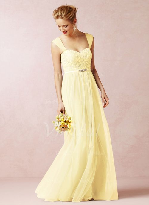 Bridesmaid Dresses - $135.00 - A-Line/Princess Sweetheart Floor-Length Tulle Lace Bridesmaid Dress With Ruffle (0075059692)