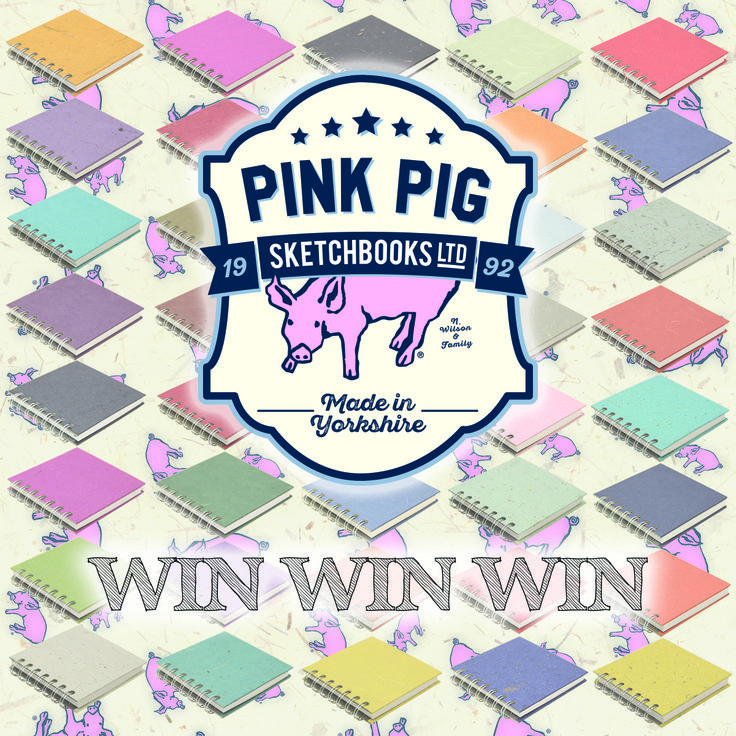 We at Pink Pig (Piglets to you) have teamed up with Student Money Saver to offer 3 years supply of free sketchbooks* a £50 cash prize and your artwork published on the cover of a sketchbook for re sale** to win this fantastic prize head on over to: https://www.studentmoneysaver.co.uk/pink-pig/