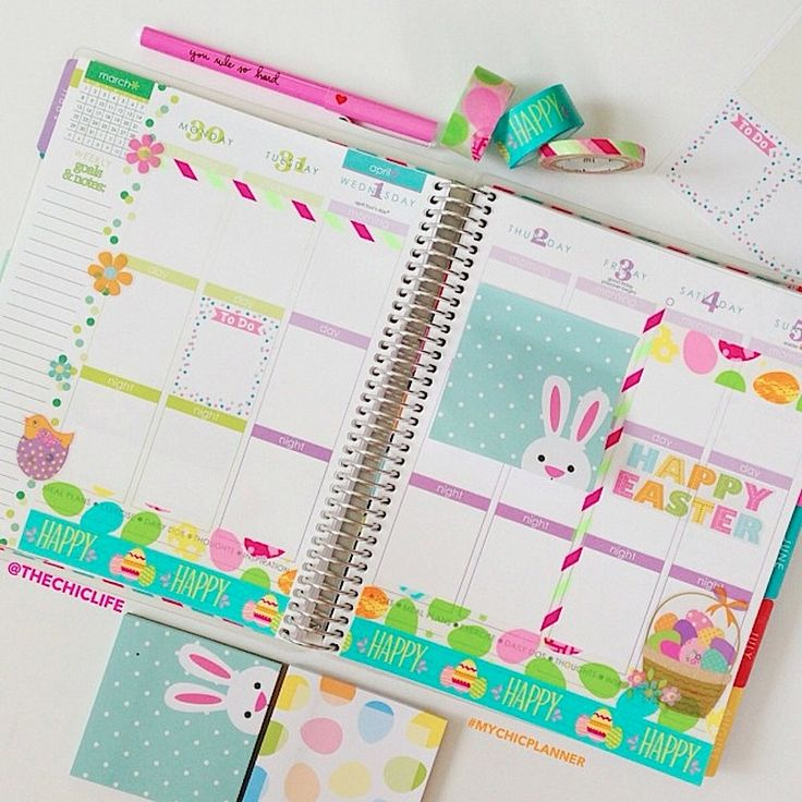 Planner Decoration Ideas: April 2015 (Erin Condren Vertical)