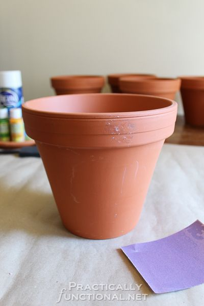How To Seal Painted Flower Pots - Materials needed