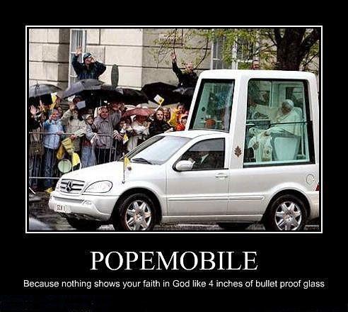 The Pope's faith in God
