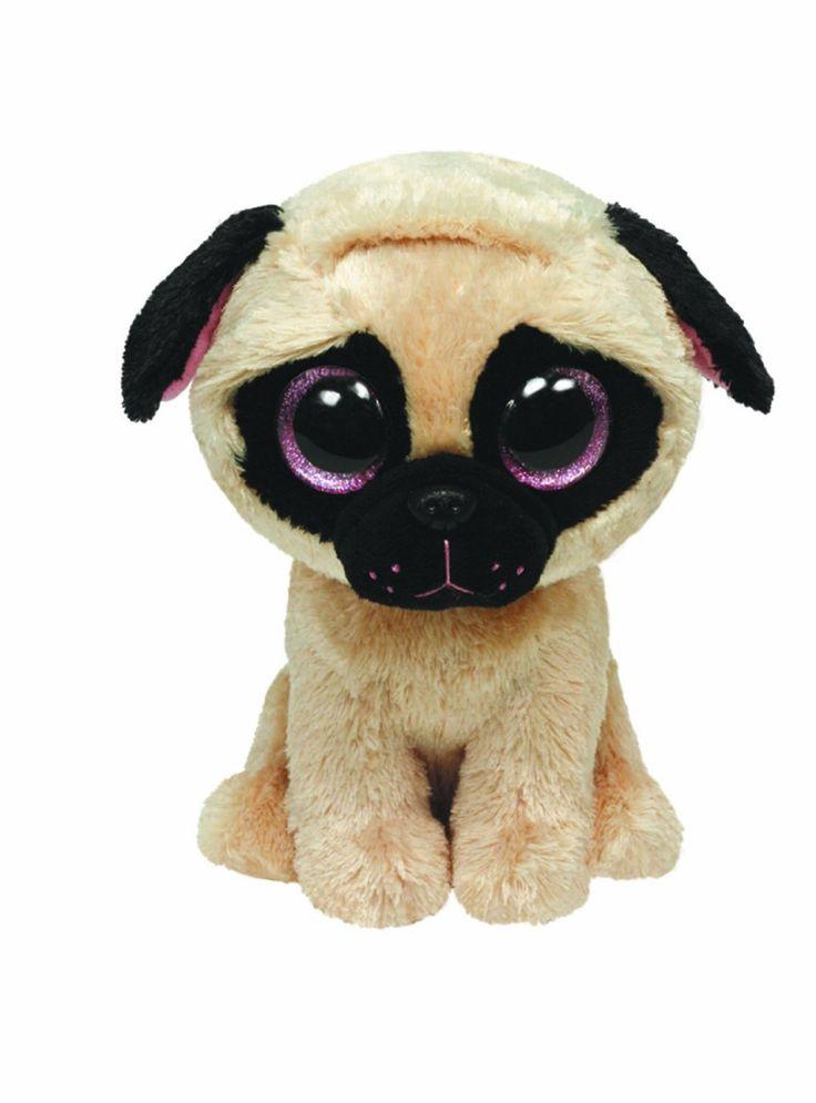 "Amazon.com: Ty Beanie Boos Pugsly Dog 6"" Plush: Toys & Games"