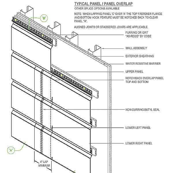 Shop Drawings For Approximately 4000 Sf Firestone Metal Panels Metal Panels Metal Paneling