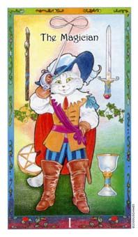 February 23 Tarot Card: The Magician (Whimsical deck) Creativity is high, motivation is strong, and your ideas and abilities are unique. This is a great time to start something new, and to give it your all