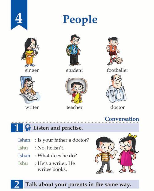 English Book Grade 1 People