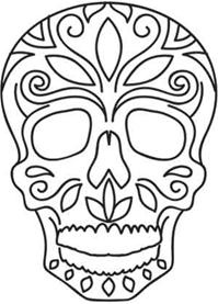 Day Of The Dead Skull Print Pinterest Stencil