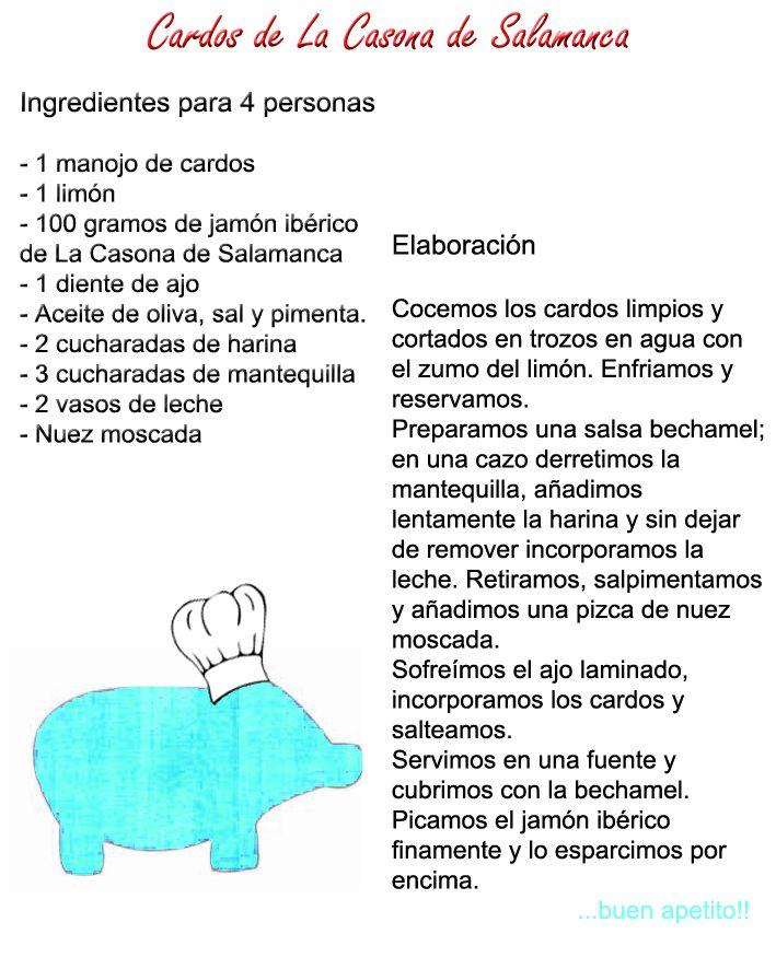 Cardos de la Casona de Salamanca. http://www.jamonibericosalamanca.es/es/