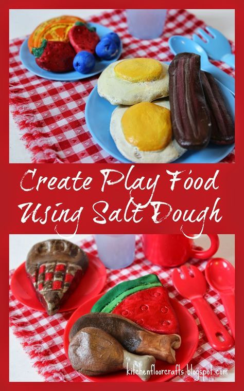 Kitchen Floor Crafts: Create Play Food Using Salt …