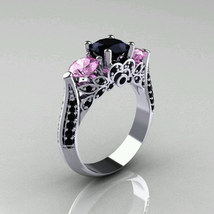 Non traditional engagement ring. ..that is beautiful!