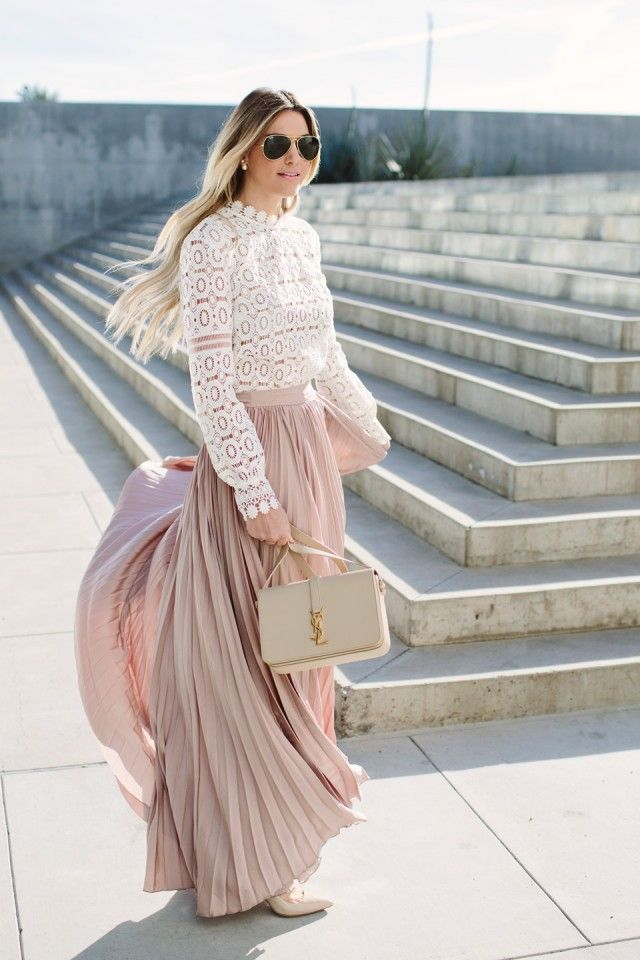 6 Super Charming Pleated Dresses and Skirts - Fashiontrends4everybody