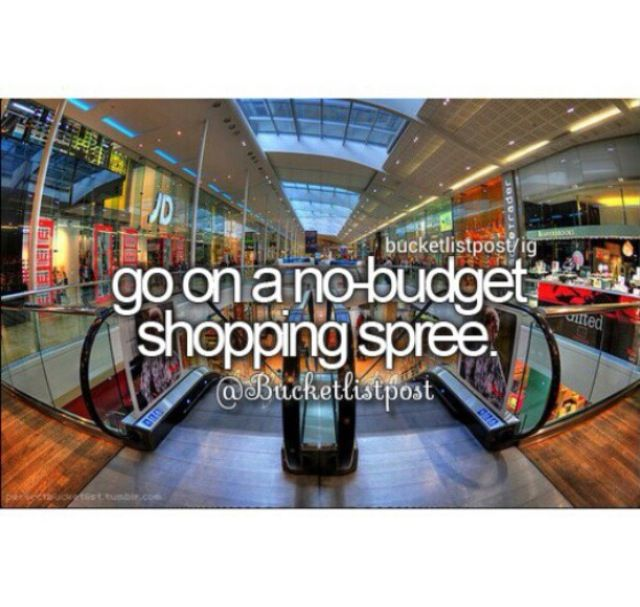 This one is a silly one, but let's be honest...a no budget shopping spree? Who doesn't want that!?! Yes please!!