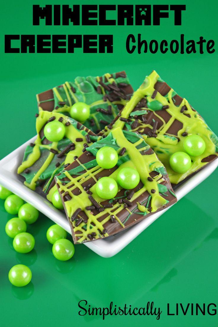 Minecraft Creeper Chocolate Simplistically Living