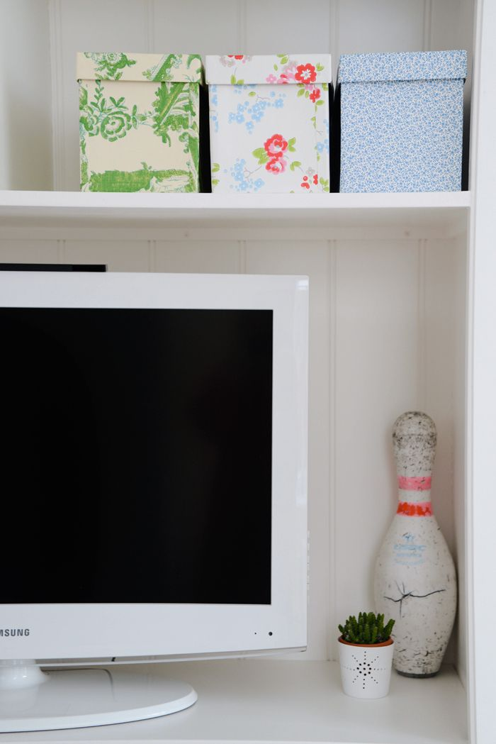 Wallpapered DVD Or CD Storage Boxes