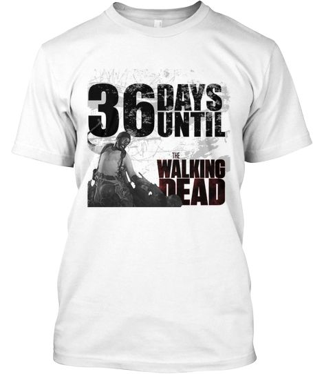 Walking Dead T-shirt (36 days) . LIMITED ADDITION
