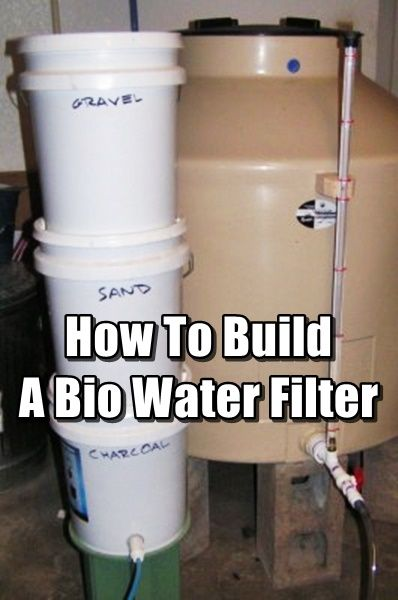 How To Build A Bio Water Filter shtf prepping survival water