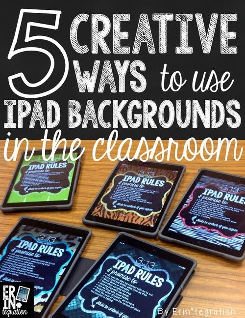 Learn how to use the valuable space on iPad backgrounds and lockscreens to organize classroom iPads and reinforce rules for using them.
