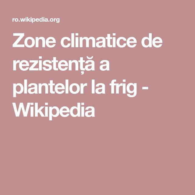 Zone climatice de rezistență a plantelor la frig - Wikipedia