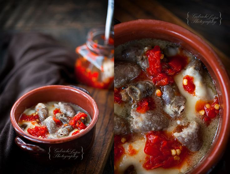 Chicken hearts and gizzards stew