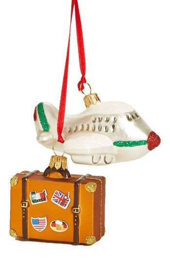 Nordstrom at Home 'Travel Suitcase & Plane - Mini' Ornament   Nordstrom