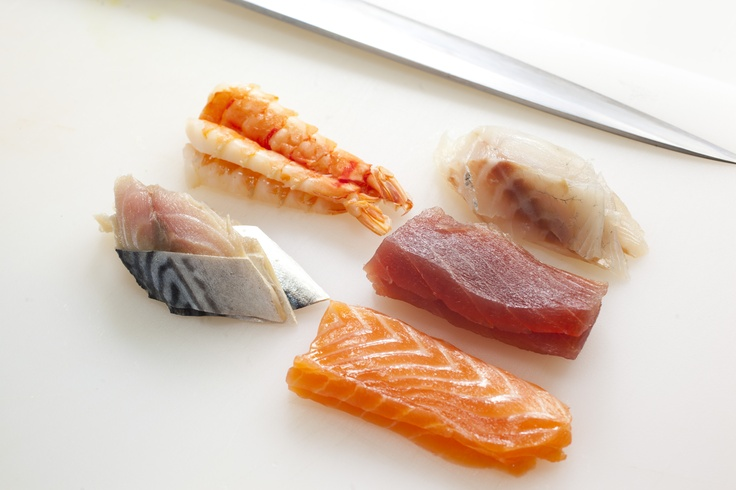 #tuna, #salmon, sea bass and #mackerel, #sushi